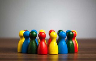 multicolored game pieces