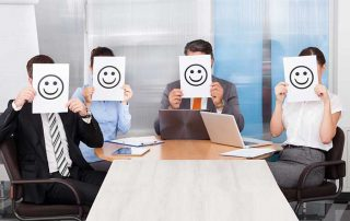 workers with happy faces